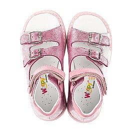 Детские босоножки Woopy Orthopedic розовые для девочек натуральная кожа размер 28-30 (4222) Фото 5