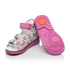 Детские босоніжки Woopy Orthopedic разноцветные для девочек натуральный нубук размер 18-28 (4223) Фото 2