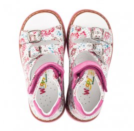 Детские босоніжки Woopy Orthopedic разноцветные для девочек натуральный нубук размер 18-28 (4223) Фото 5