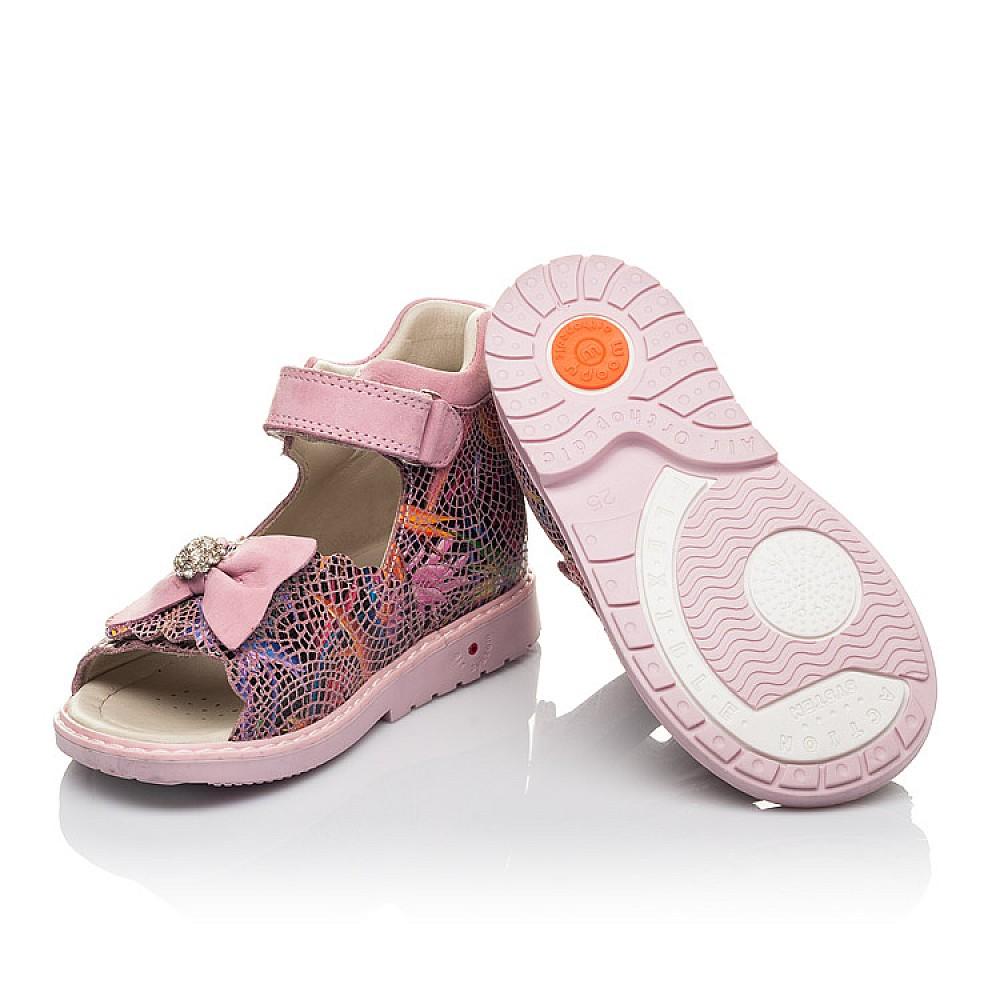 Детские босоножки Woopy Orthopedic разноцветные для девочек натуральный нубук размер 18-30 (4224) Фото 2