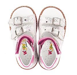 Детские босоножки Woopy Orthopedic белые для девочек натуральный нубук размер - (4225) Фото 5