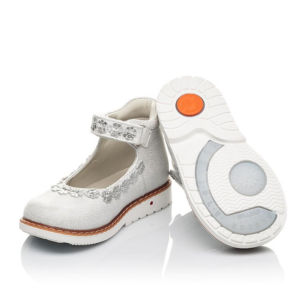 Детские туфли Woopy Orthopedic серебряные для девочек натуральная кожа размер 21-25 (4226) Фото 2