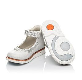 Детские туфли Woopy Orthopedic серебряные для девочек натуральная кожа размер 21-24 (4226) Фото 2