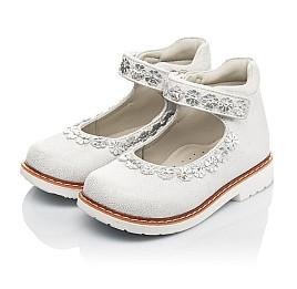 Детские туфли Woopy Orthopedic серебряные для девочек натуральная кожа размер 21-24 (4226) Фото 3