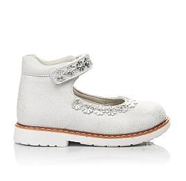 Детские туфли Woopy Orthopedic серебряные для девочек натуральная кожа размер 21-24 (4226) Фото 4