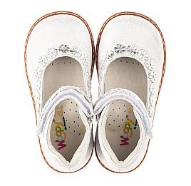 Детские туфли Woopy Orthopedic серебряные для девочек натуральная кожа размер 21-24 (4226) Фото 5