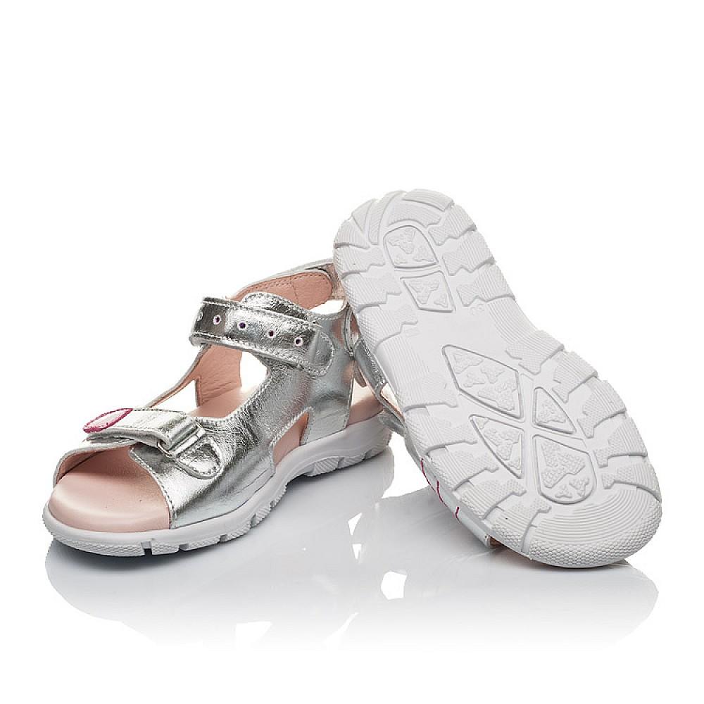 Детские босоножки Woopy Orthopedic серебряные для девочек натуральная кожа размер 26-38 (4227) Фото 2