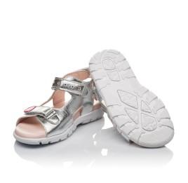 Детские босоніжки Woopy Orthopedic серебряные для девочек натуральная кожа размер 26-37 (4227) Фото 2