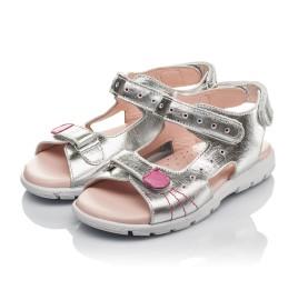 Детские босоніжки Woopy Orthopedic серебряные для девочек натуральная кожа размер 26-37 (4227) Фото 3