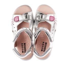 Детские босоножки Woopy Orthopedic серебряные для девочек натуральная кожа размер 26-37 (4227) Фото 5