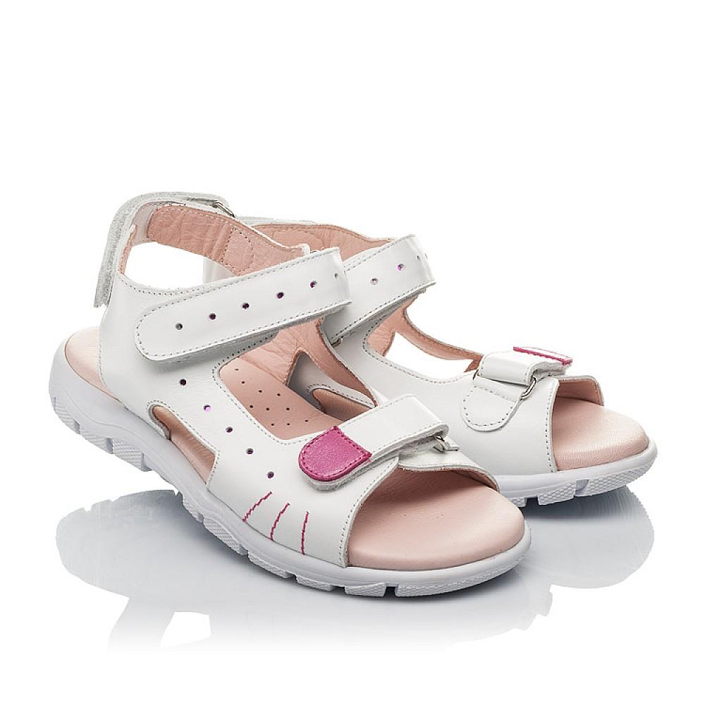 Детские босоножки Woopy Orthopedic белые для девочек натуральная кожа размер 21-38 (4228) Фото 1