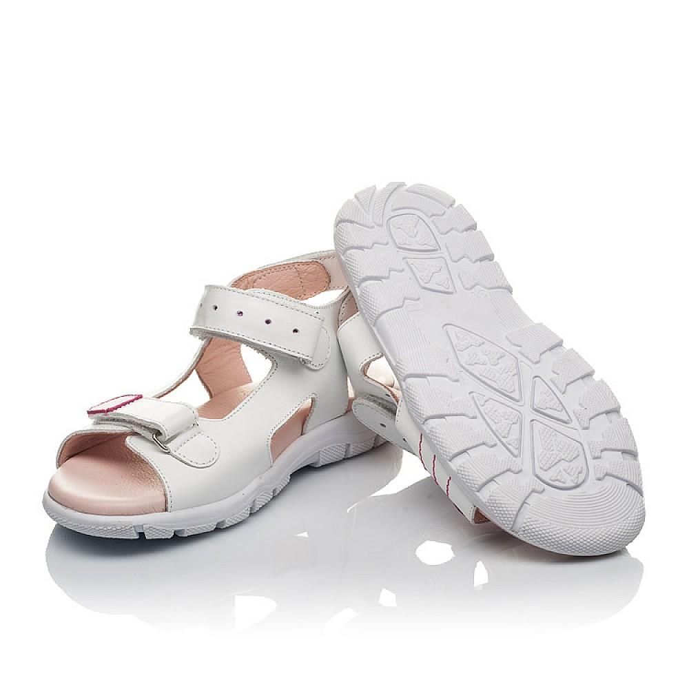 Детские босоножки Woopy Orthopedic белые для девочек натуральная кожа размер 21-38 (4228) Фото 2