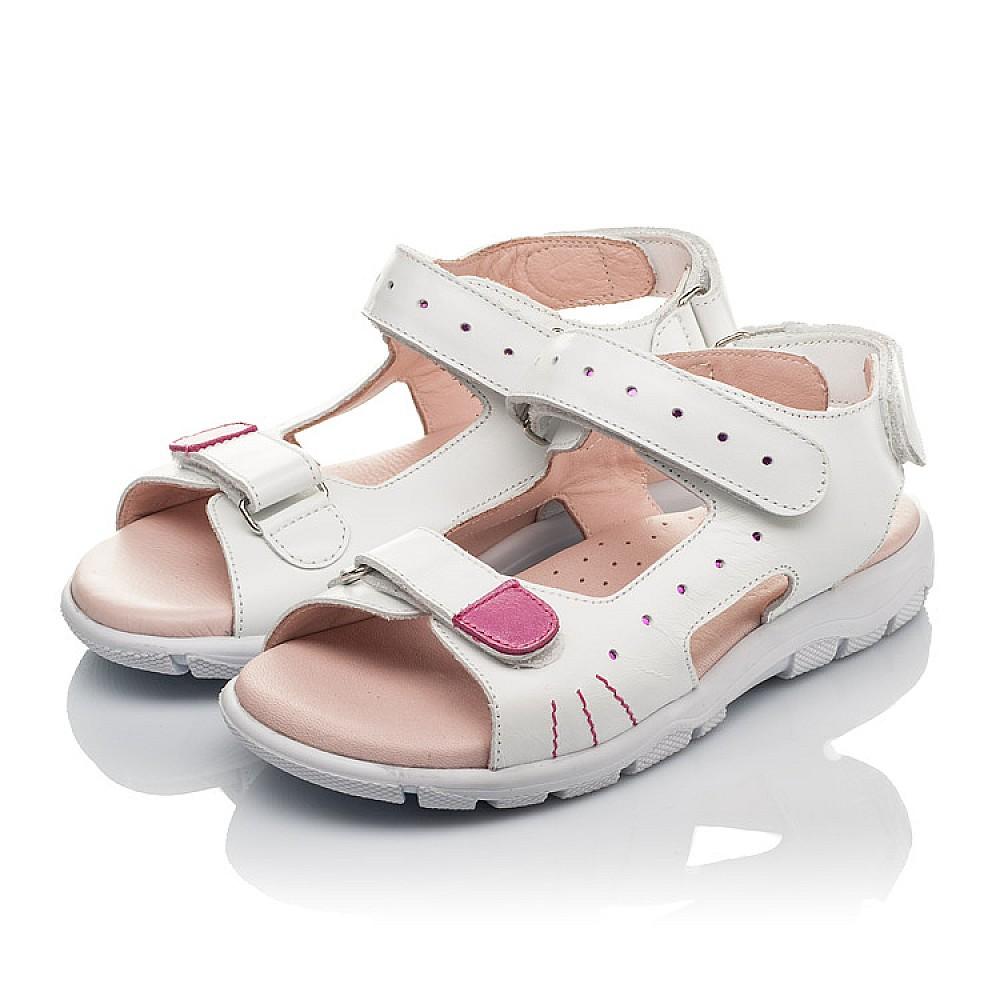 Детские босоножки Woopy Orthopedic белые для девочек натуральная кожа размер 21-38 (4228) Фото 3