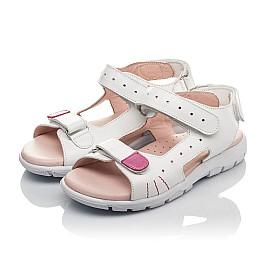 Детские босоніжки Woopy Orthopedic белые для девочек натуральная кожа размер 21-38 (4228) Фото 3