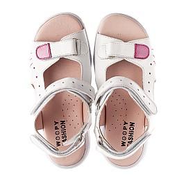 Детские босоножки Woopy Orthopedic белые для девочек натуральная кожа размер 21-37 (4228) Фото 5