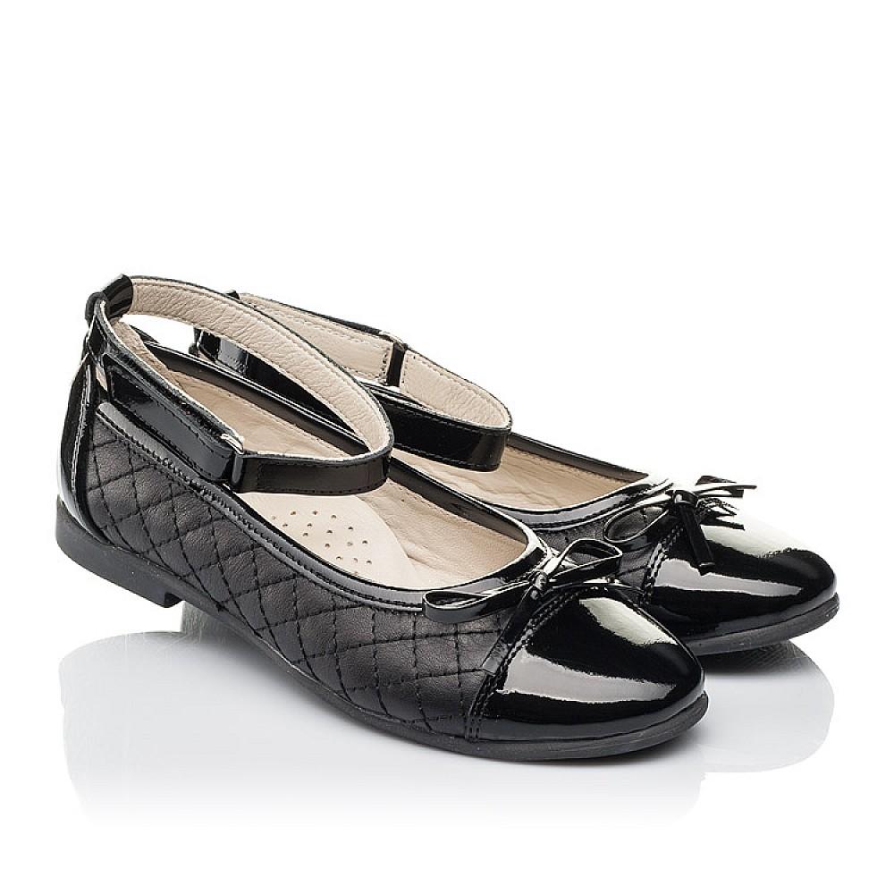 Детские туфли Woopy Orthopedic черные для девочек натуральная кожа размер 30-36 (4229) Фото 1