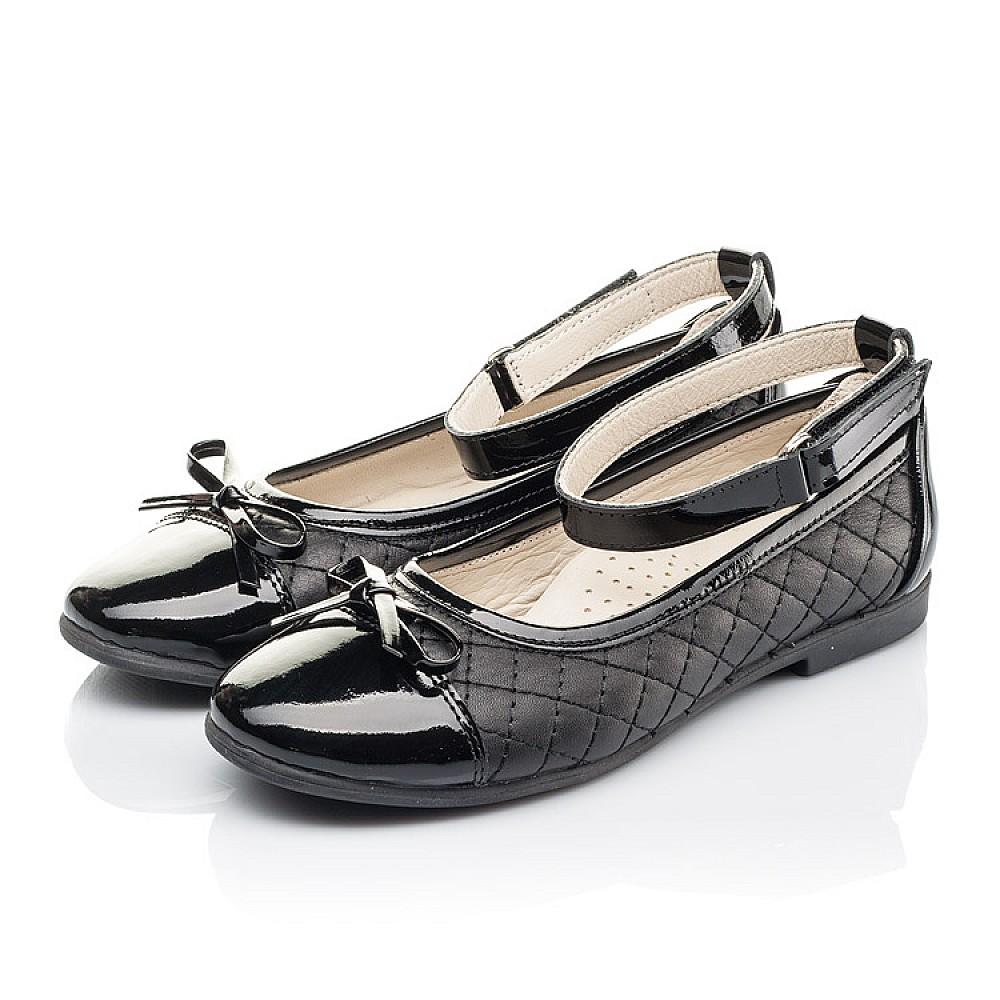 Детские туфли Woopy Orthopedic черные для девочек натуральная кожа размер 30-36 (4229) Фото 3