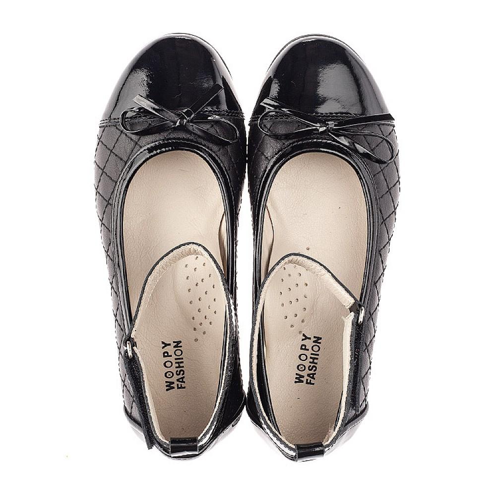 Детские туфли Woopy Orthopedic черные для девочек натуральная кожа размер 30-36 (4229) Фото 5
