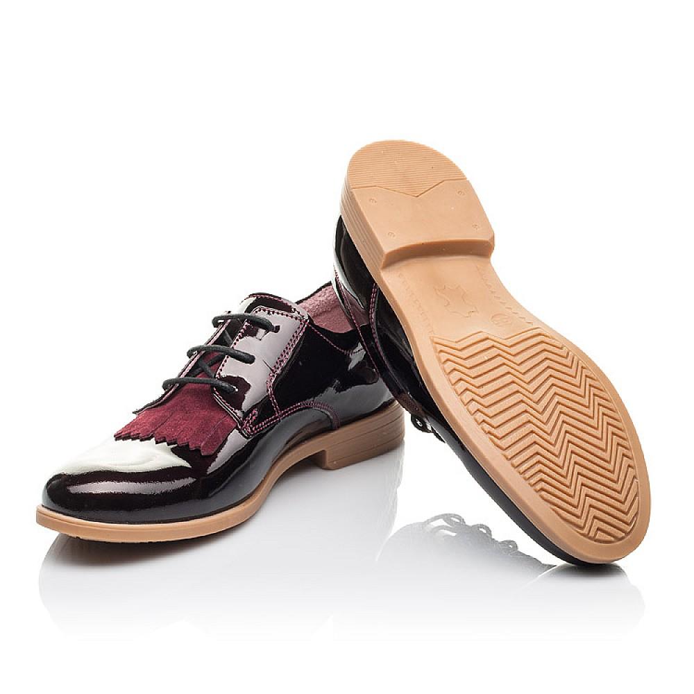 Детские туфли Woopy Orthopedic бордовые для девочек натуральная лаковая кожа размер 33-40 (4230) Фото 2