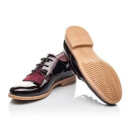 Детские туфли (шнурок резинка) Woopy Orthopedic бордовые для девочек натуральная лаковая кожа размер 33-40 (4230) Фото 2