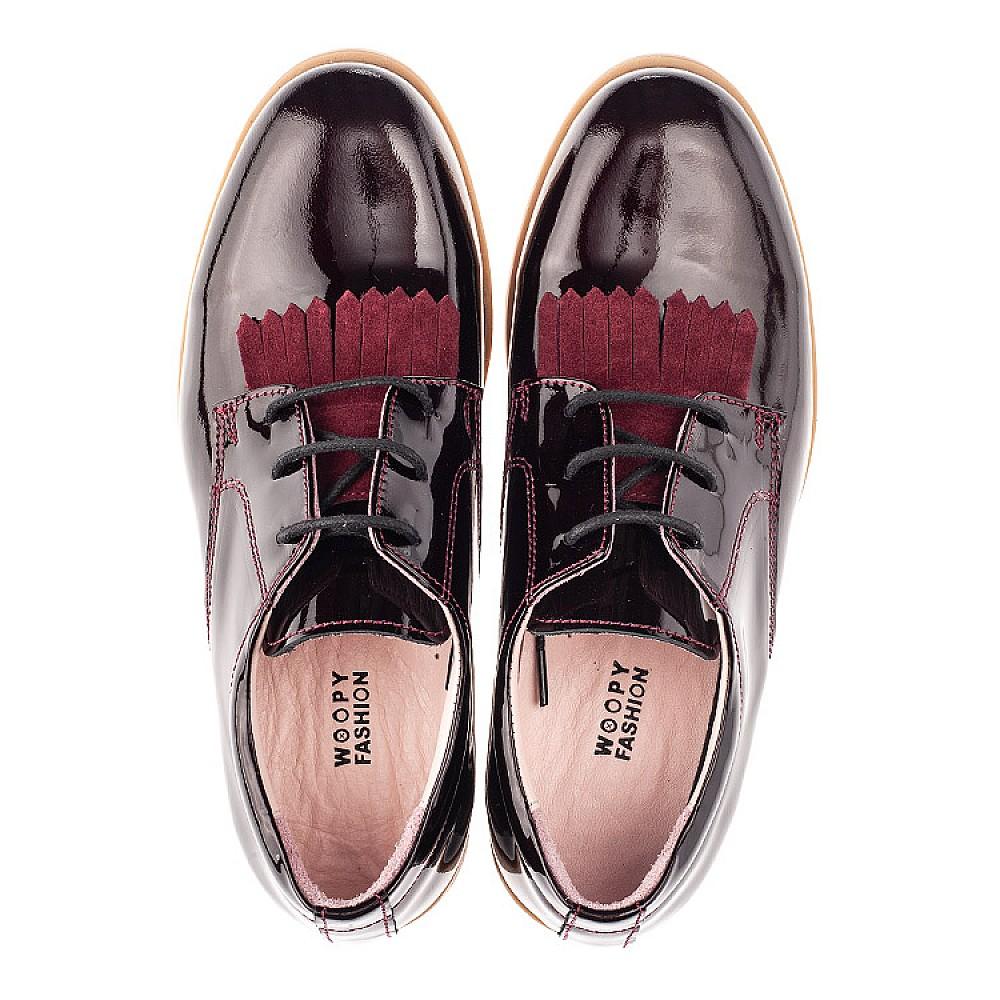 Детские туфли Woopy Orthopedic бордовые для девочек натуральная лаковая кожа размер 33-40 (4230) Фото 5