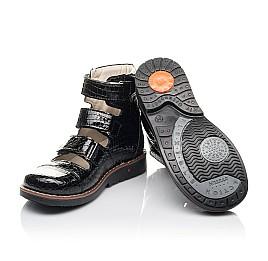 Детские ортопедические туфли (с высоким берцем) Woopy Orthopedic черные для девочек натуральная лаковая кожа размер 34-36 (4231) Фото 2