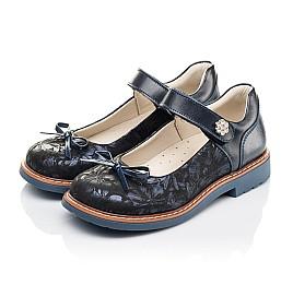 Детские туфли Woopy Orthopedic синие для девочек натуральная кожа, нубук размер 29-35 (4232) Фото 2