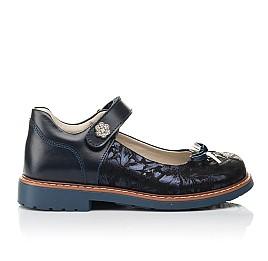 Детские туфли Woopy Orthopedic синие для девочек натуральная кожа, нубук размер 29-35 (4232) Фото 3