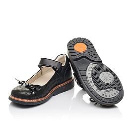 Детские туфли Woopy Orthopedic черные для девочек натуральная кожа, нубук размер 29-36 (4233) Фото 2