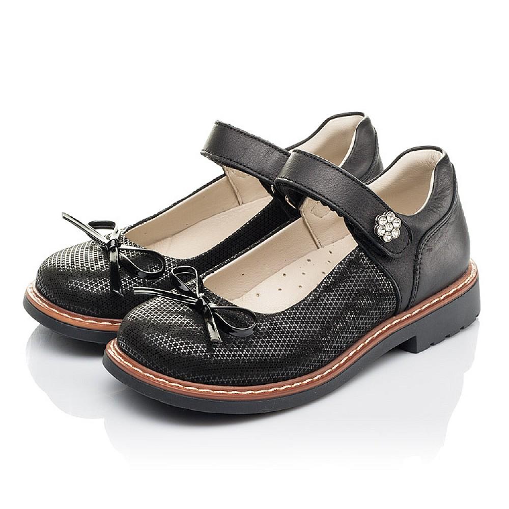 Детские туфли Woopy Orthopedic черные для девочек натуральная кожа, нубук размер 29-36 (4233) Фото 3