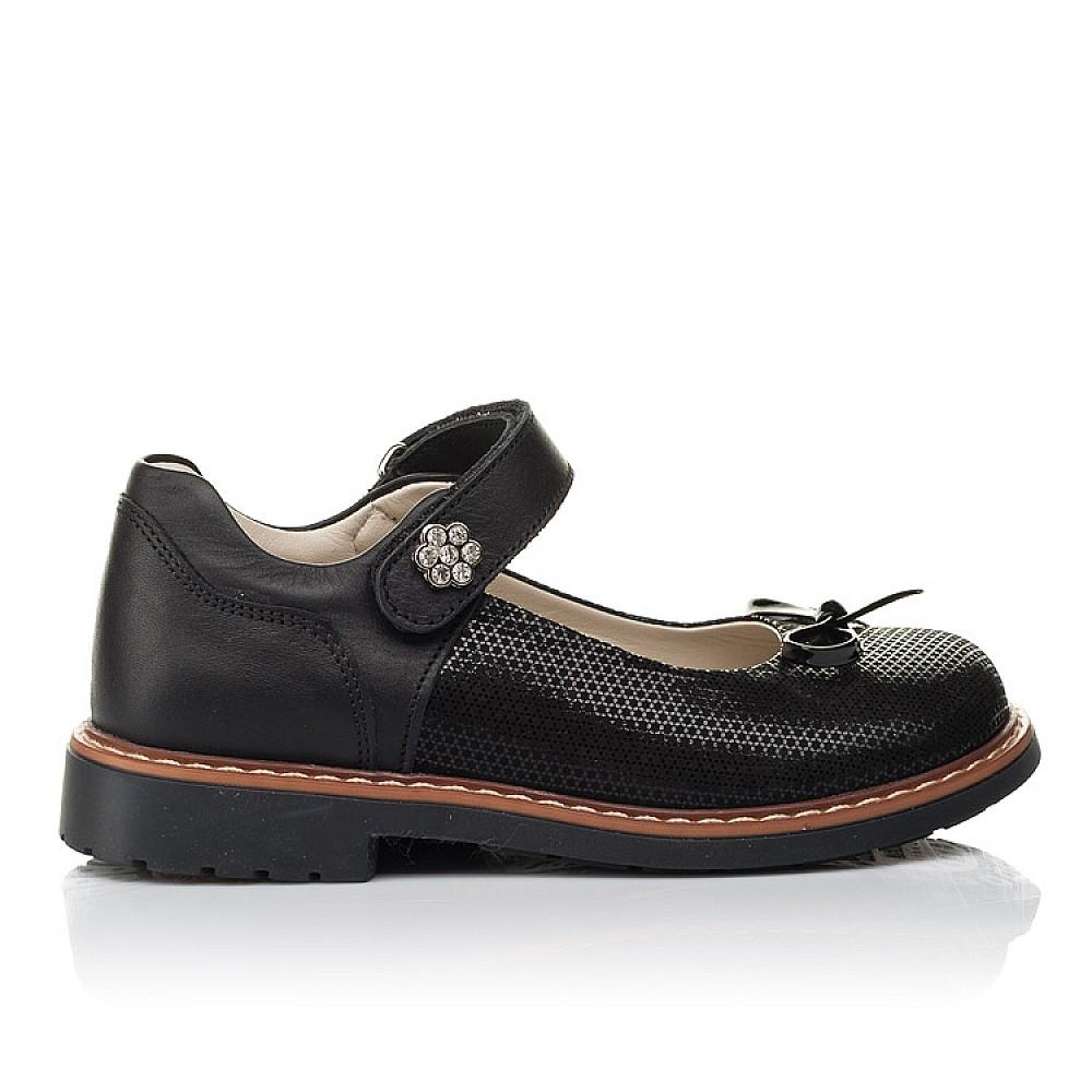 Детские туфли Woopy Orthopedic черные для девочек натуральная кожа, нубук размер 29-36 (4233) Фото 4