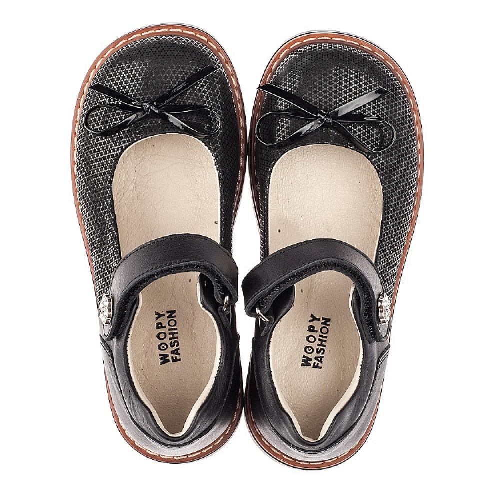Детские туфли Woopy Orthopedic черные для девочек натуральная кожа, нубук размер 29-36 (4233) Фото 5
