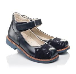 Детские туфли Woopy Orthopedic синие для девочек натуральная кожа размер 29-35 (4234) Фото 1
