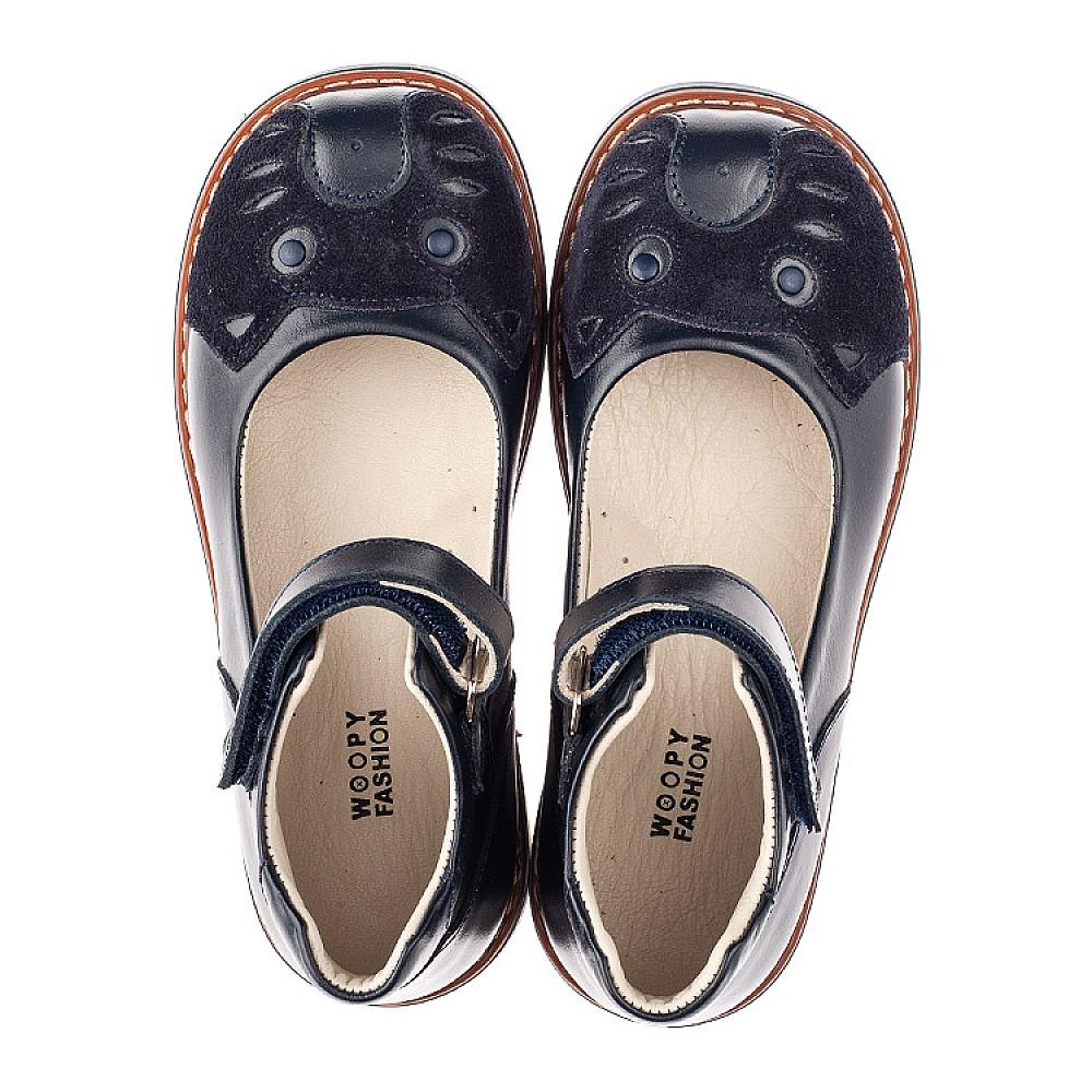 Детские туфли Woopy Orthopedic синие для девочек натуральная кожа размер 29-35 (4234) Фото 5