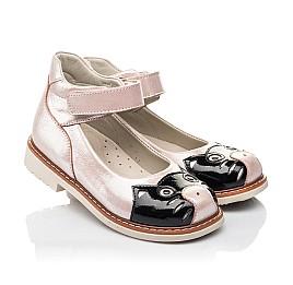 Детские туфлі Woopy Orthopedic пудровые для девочек натуральный нубук размер 22-33 (4235) Фото 1