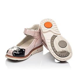 Детские туфлі Woopy Orthopedic пудровые для девочек натуральный нубук размер 22-33 (4235) Фото 2