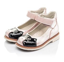 Детские туфлі Woopy Orthopedic пудровые для девочек натуральный нубук размер 22-33 (4235) Фото 3