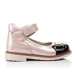 Детские туфлі Woopy Orthopedic пудровые для девочек натуральный нубук размер 22-33 (4235) Фото 4
