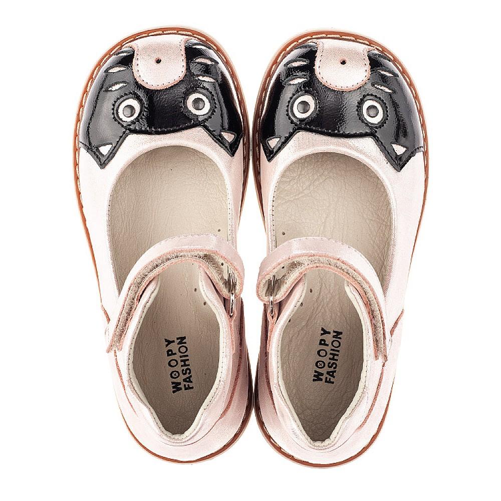 Детские туфли Woopy Orthopedic пудровые для девочек натуральный нубук размер 22-34 (4235) Фото 5