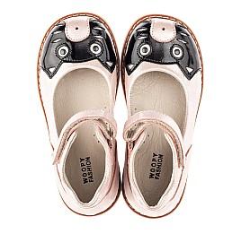 Детские туфлі Woopy Orthopedic пудровые для девочек натуральный нубук размер 22-33 (4235) Фото 5