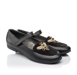 Детские туфли Woopy Orthopedic черные для девочек натуральная кожа размер 29-38 (4236) Фото 1