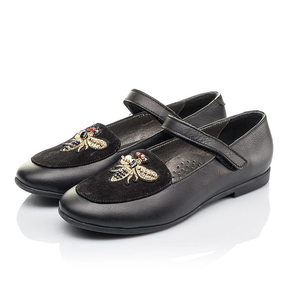 Детские туфли Woopy Orthopedic черные для девочек натуральная кожа размер 29-38 (4236) Фото 3
