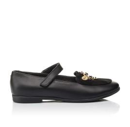 Детские туфли Woopy Orthopedic черные для девочек натуральная кожа размер 29-38 (4236) Фото 4