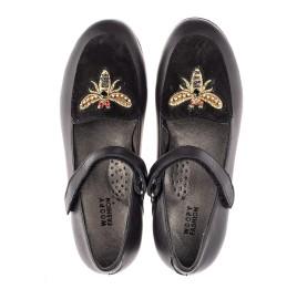 Детские туфли Woopy Orthopedic черные для девочек натуральная кожа размер 29-38 (4236) Фото 5