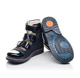 Детские ортопедические туфли (с высоким берцем) Woopy Orthopedic синие для девочек натуральный нубук размер 35-36 (4237) Фото 2