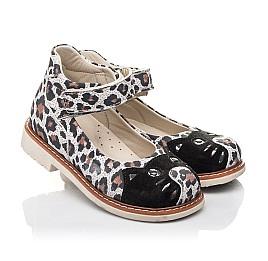 Детские туфли Woopy Orthopedic разноцветные для девочек натуральный нубук размер 24-33 (4238) Фото 1