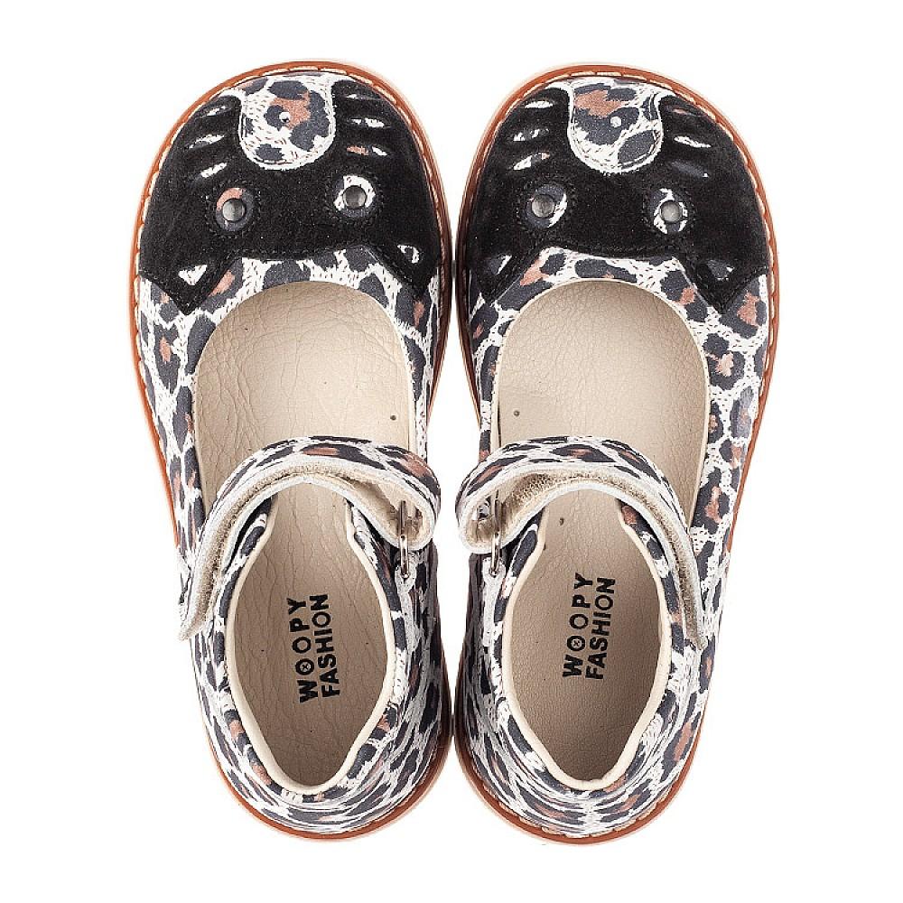 Детские туфли Woopy Orthopedic разноцветные для девочек натуральный нубук размер 24-34 (4238) Фото 5