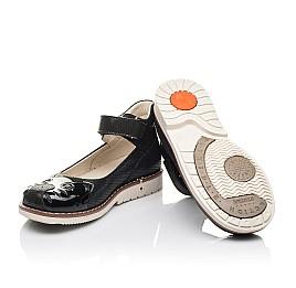 Детские туфли Woopy Orthopedic черные для девочек натуральный нубук размер 28-35 (4239) Фото 2