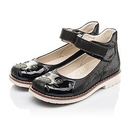 Детские туфли Woopy Orthopedic черные для девочек натуральный нубук размер 28-35 (4239) Фото 3