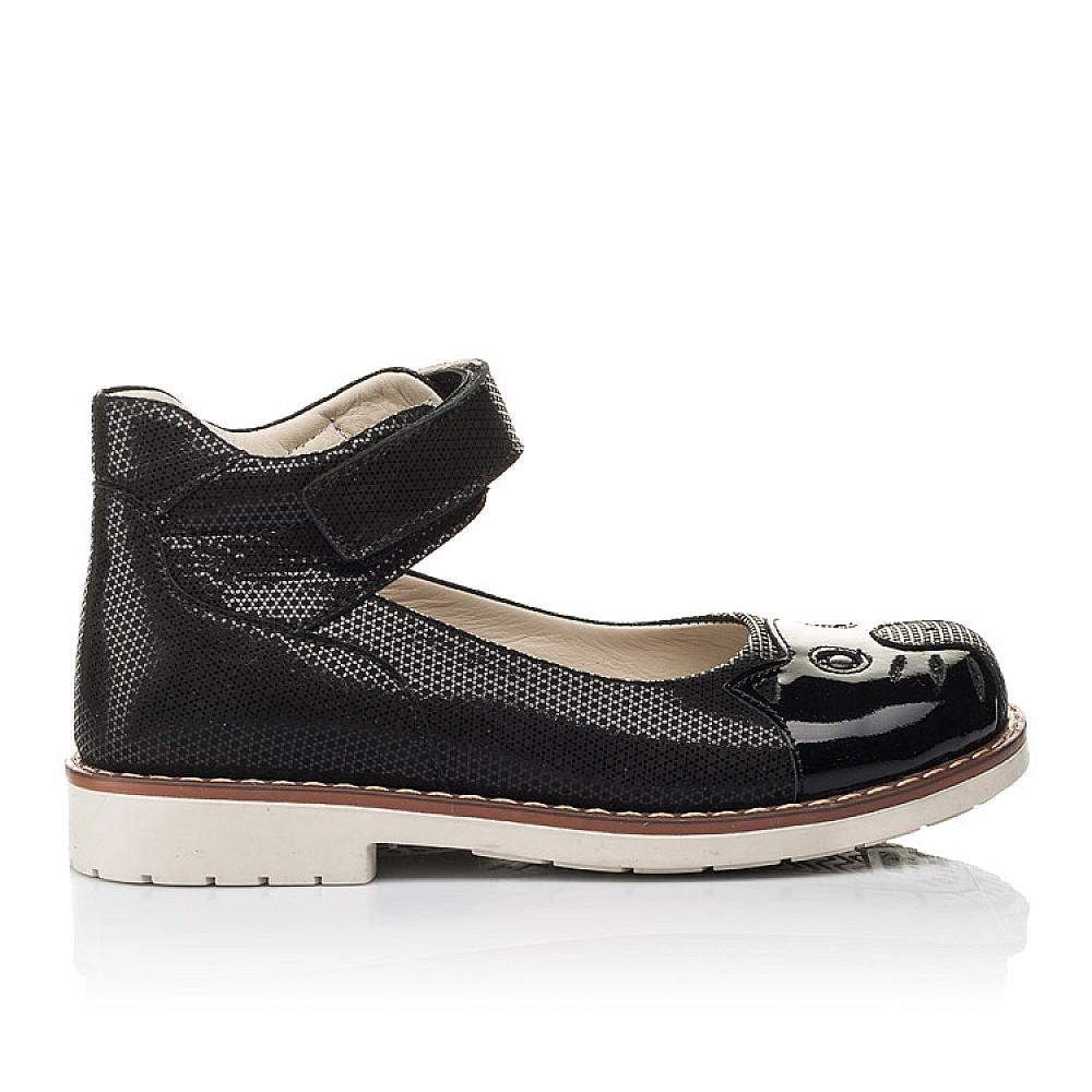 Детские туфли Woopy Orthopedic черные для девочек натуральный нубук размер 28-35 (4239) Фото 4